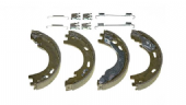 LR031947 EPB Brake Shoe Set of 4 with Springs Discovery & RRS